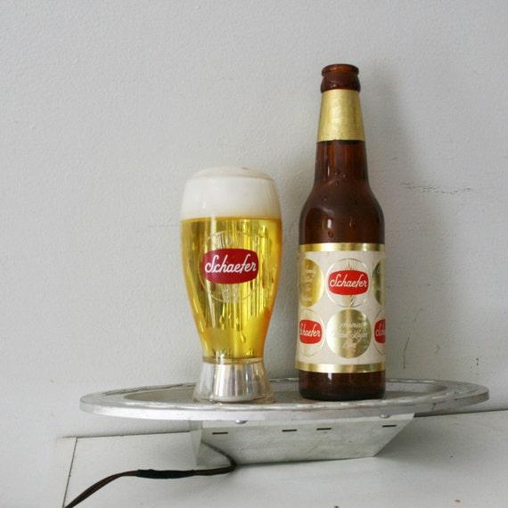 Vintage Schaefer Beer Electric Bubbling Bar Light