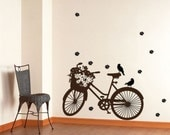 Vinyl Wall Art Decal Bicycle----Wall Art Home Decor Murals Vinyl Decals Stickers Murals