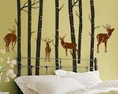 Deer Forest-----Wall Art Home Decor Murals Vinyl Decals Stickers Murals