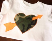 Camo Heart Valentine Tee - Size 24 Month - Reserved for prettysweetdesigns