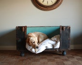 RESERVED FOR EMMA - Antique Trunk Dog Bed