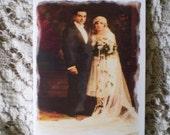 Wedding or Anniversary (Customized) Notecard - Lasting Love - 1 Card