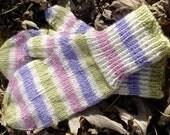 SALE - Pastel Striped Alpaca Mittens