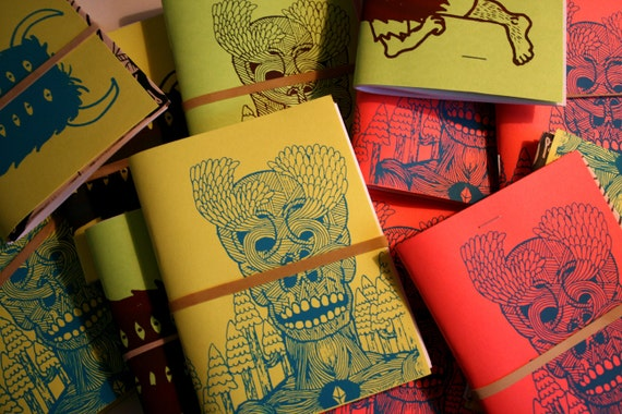 Colorful Screenprinted Blank Sketchbooks
