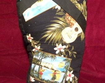 Flip Flop Pillow-Hula Girl Print