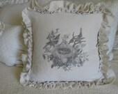 Birds in a Nest Double Ruffle pillow Treasure Item