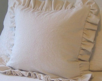 The French Prairie Collection Ruffle Pillow- 5 inch ruffle