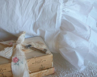 "The French Prairie Collection ""Layered Ruffles"" Pillowcase King size"
