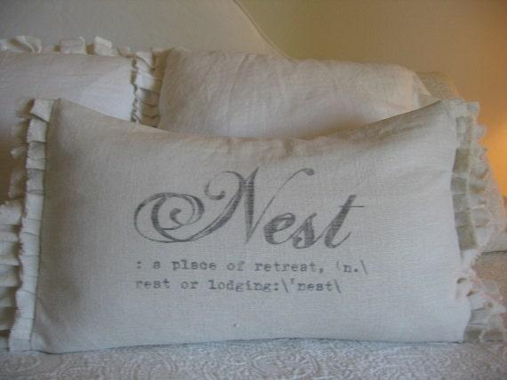 The Gabriella Nest double ruffle pillow