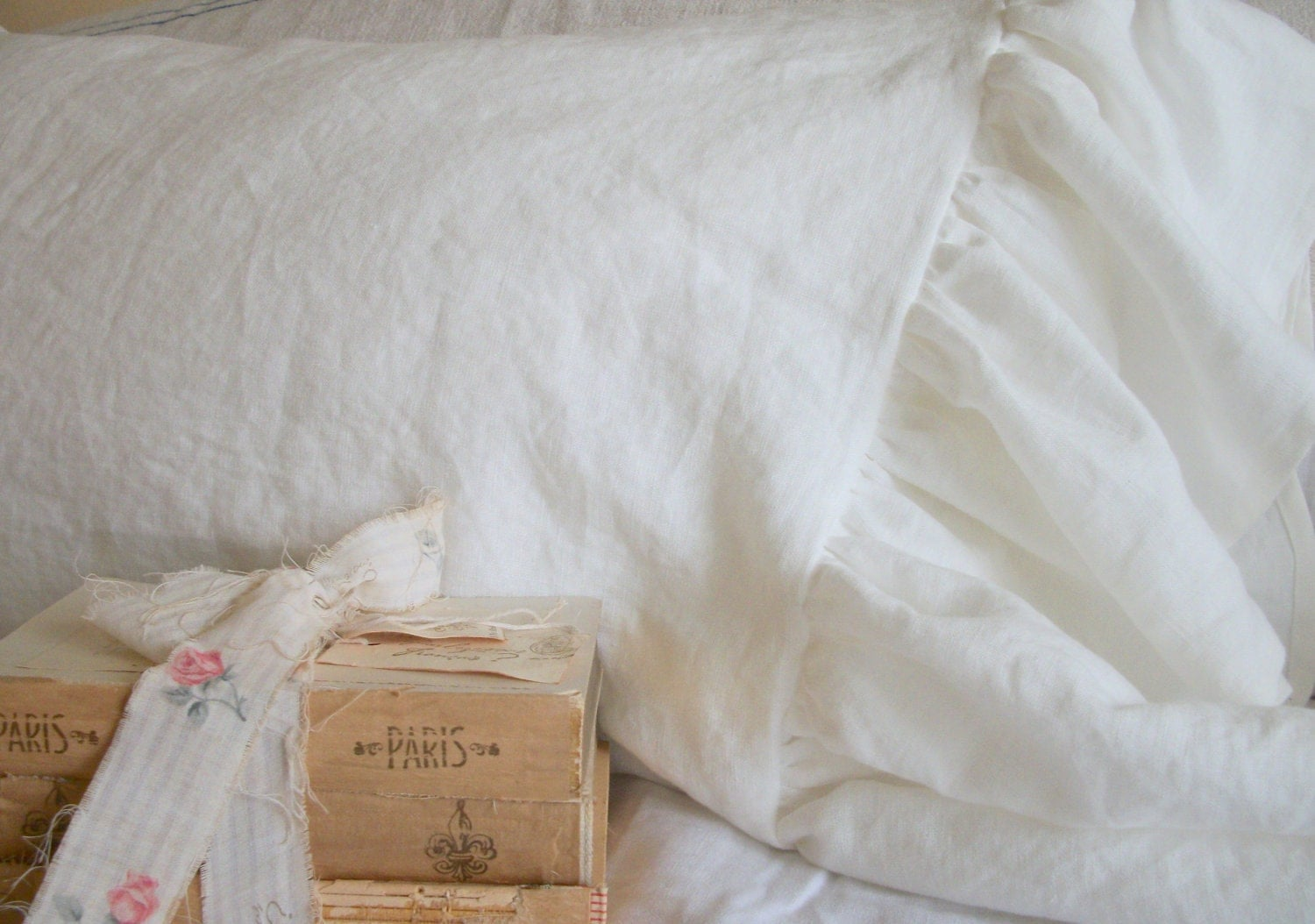 Shabby Chic Bed Pillows : Shabby Chic Pillows The French Prairie Collection Ruffle