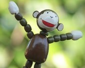 Curious George  Wooden Finger Toy
