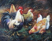 Feathered Friends 18X24 Deluxe Giclee Canvas Print from an original Vickie Wade oil painting