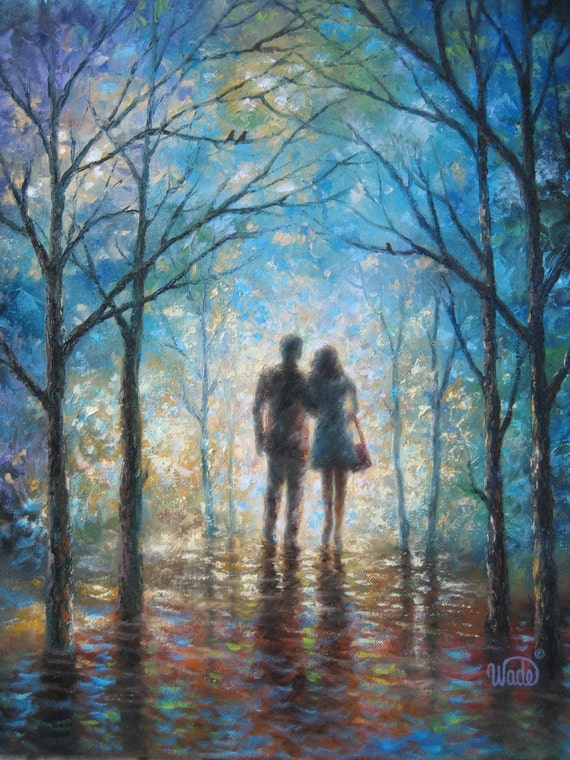 lovers original oil painting vickie wade young lovers in