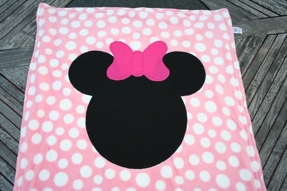 Minnie Mouse Baby Blanket by KellyCraftsforKids on Etsy