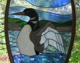 Dancing Loon Stained Glass Snowshoe
