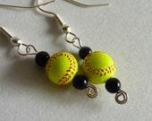 Girls Fastpitch Softball Earrings