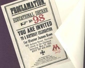 12 Personalized Wizarding Educational Decree Birthday Invitations or Save the Date Cards
