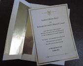 Twilight Edward & Bella Silver Foiled Wedding Invitation Prop Replica