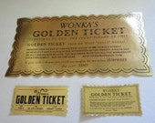 "Set of 2 Mini Willy Wonka Golden Tickets for 18"" American Girl Dolls"