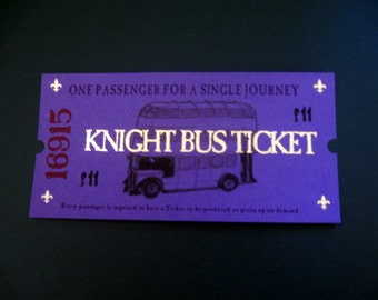 Wizarding Knight Bus Ticket for the stranded Witch or Wizard