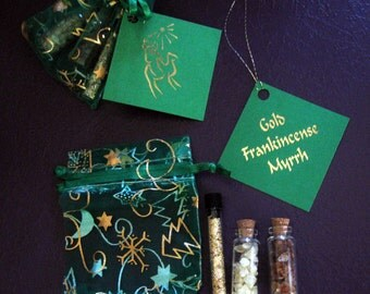 Gold, Frankincense, and Myrrh Set - Traditional Christmas Gift