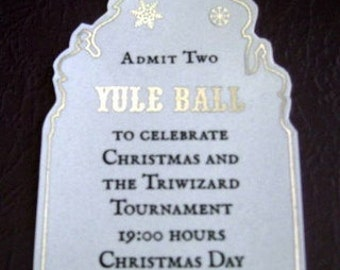 Witch or Wizard Yule Ball Ticket Replica Prop (Flawed)