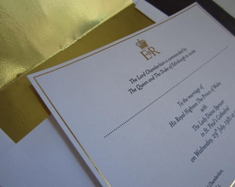 Charles & Diana Royal Wedding Invitation Souvenir Reproduction