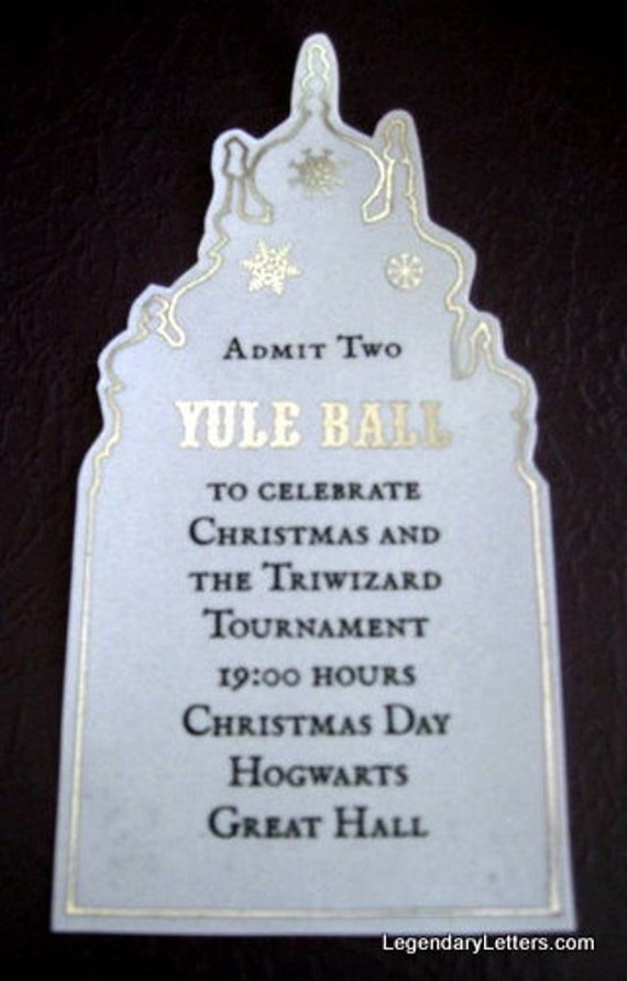 Witch Or Wizard Yule Ball Ticket Replica Prop Flawed