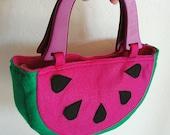 Watermelon Handbag / Purse - Juicy Pink