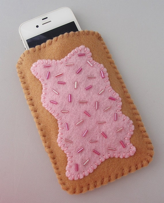IPhone / Droid / Blackberry Phone Case- Strawberry Toaster Pastry