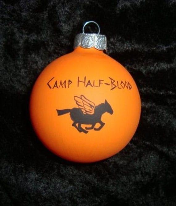 percy jackson camp half blood ornament, camp jupiter ornament