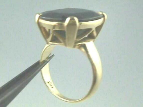 On Sale Rare Blue Sapphire Ring in Handmade 18K Gold Art Nouveau Setting Engagement Wedding  Gem: 17.13 Carats