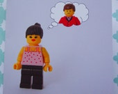 Lego Art - Blank Gift Card - Thinking of You
