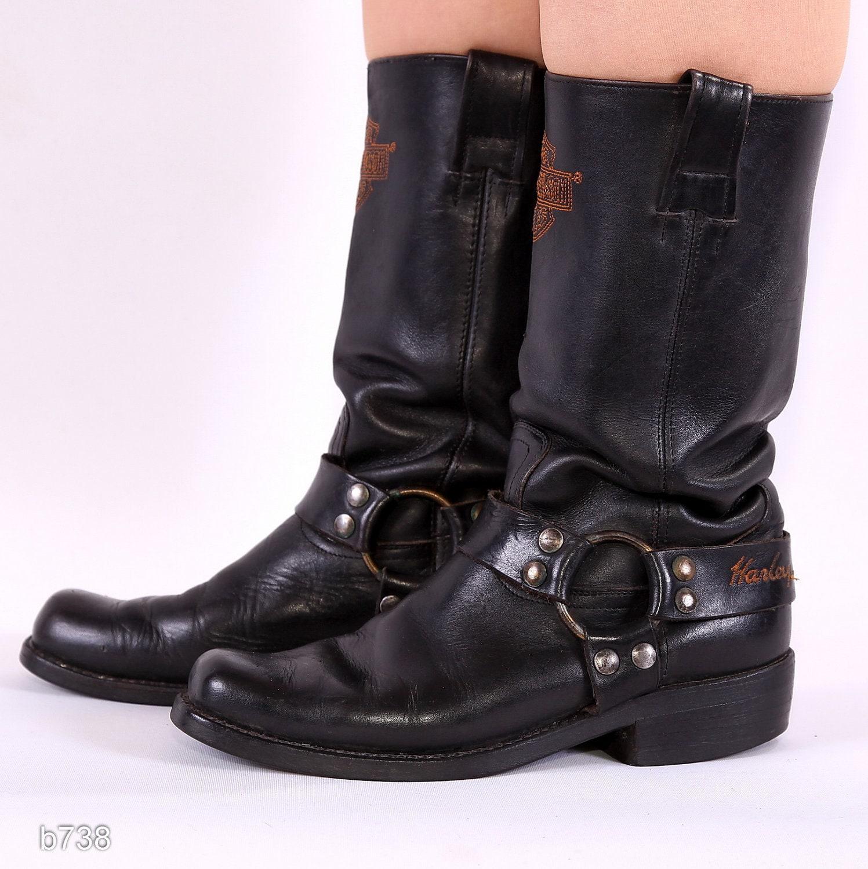 vintage mens cowboy boots harley davidson biker boots size