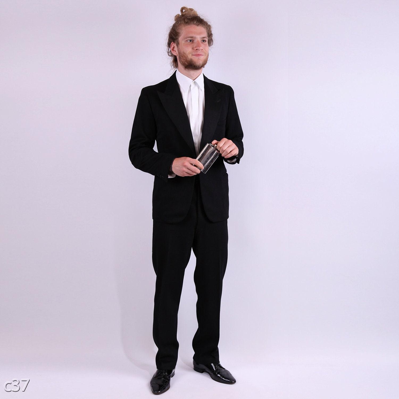 1960s Mens Colorful Suits Mens 1960s tuxedo blazer