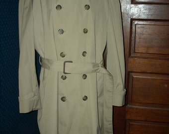 London Fog Trench Coat with Removable Winter Lining sz 42 s