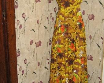 1970s Royal Hawaiian ladies long maxi dress sz 10