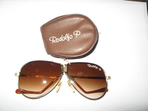 vintage 1970s Rodolfo P fOLDING aviator sunglasses
