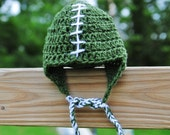 Michigan State Spartans Baby Football Hat Newborn Infant Take home Shower gift Photo prop Beanie Earflaps Cap