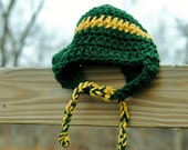 Baylor University Bears Baby Hat Newborn Beanie Infant Take home Shower gift Photo prop Beanie Earflaps Sports