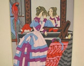 Vintage Art Deco Ro Keezer signed Print French Pochoir Handpainted