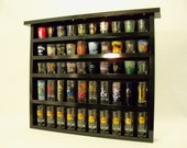 Shadow series 50 Shot Glass Display Case with Black Felt Background