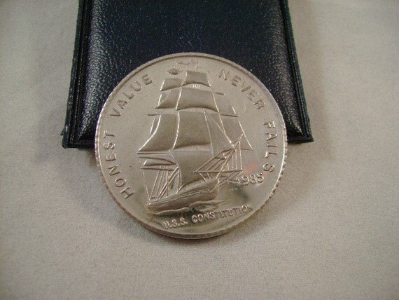Silver Coin Liberty Mint One Ounce 999 Uss Constitution