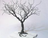 wire tree - silver plated copper wire - minimalistic decor