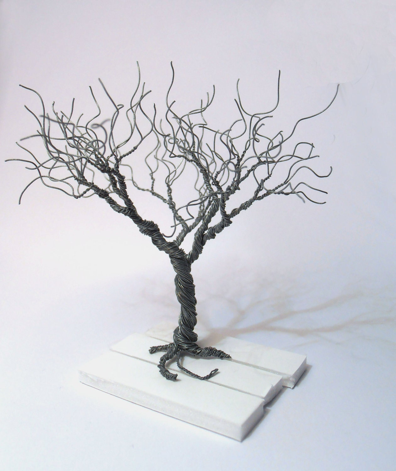 Wire Tree Silver Plated Copper Minimalistic Decor