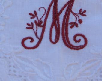 Monogrammed Linen Towel
