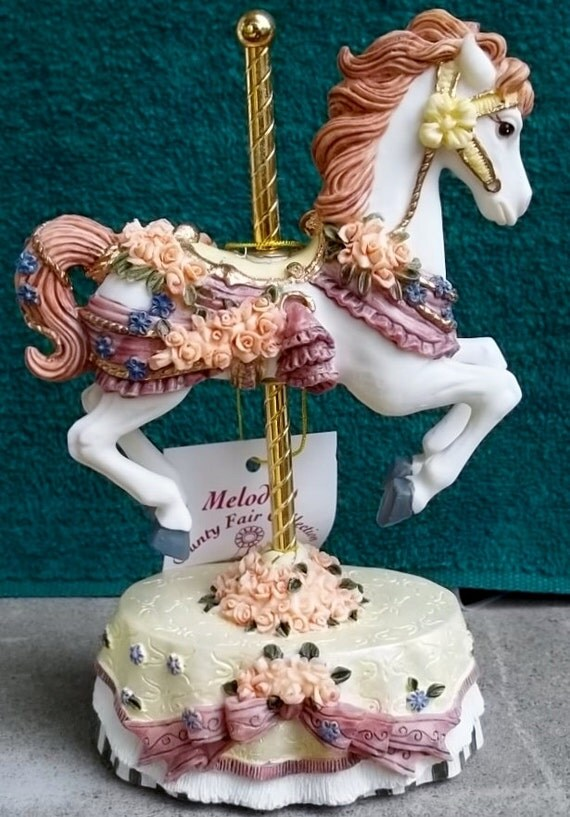 Heritage House County Fair Carousel Horse Music Box