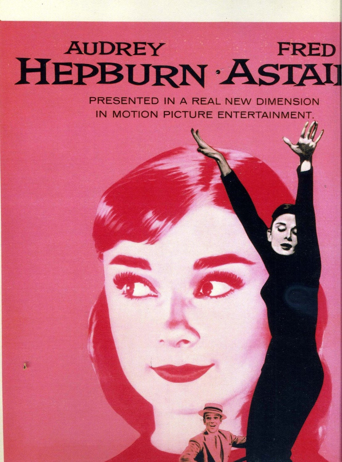 audrey hepburn pink funny face movie poster. Black Bedroom Furniture Sets. Home Design Ideas