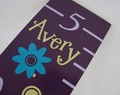 Flowers Growth Chart in Purple, Personalized, Growth Charts by LaffyDaffy on Etsy