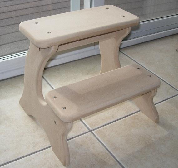 Unfinished Step Stool Furniture Wooden Wood Mdf